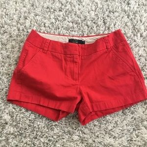 "J.Crew- 3"" chino shorts (red)"